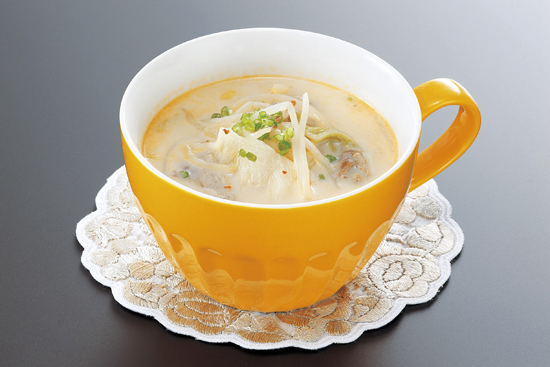 スープ 豆乳 キムチ